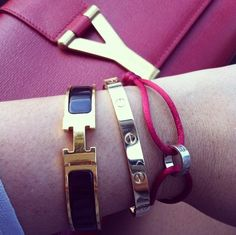 Red, Black and Gold #Hermes #Cartier
