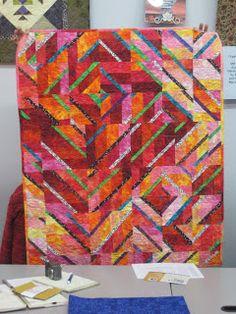Veronica Hofman-Ortega's quilt at Chattanooga Modern Quilt Guild: The November Meeting, Part 2