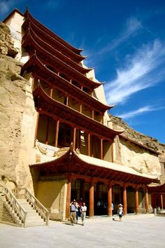 Dunhuang Photos at Frommer's - The Mogao Caves in Dunhuang, China.