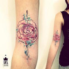 watercolor flower tattoo  rodrigotas @Rodrigo Tas | Websta