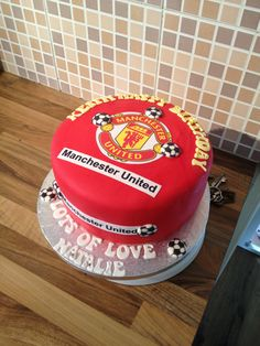 Manchester United Theme Birthday Cake Cakes Manchester United