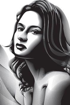Using the Blend Tool to Create a Halftone Effect Portrait in Adobe Illustrator (via a href=http://vector.tutsplus.com/tutorials/illustration/using-the-blend-tool-to-create-a-halftone-effect-portrait-in-adobe-illustrator/vector.tutsplus.com/a)