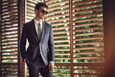 #HouseofFraser #SS16Logan Macrae shot by Diego Merino   #blue #tailoring #suit #summer #sunglasses
