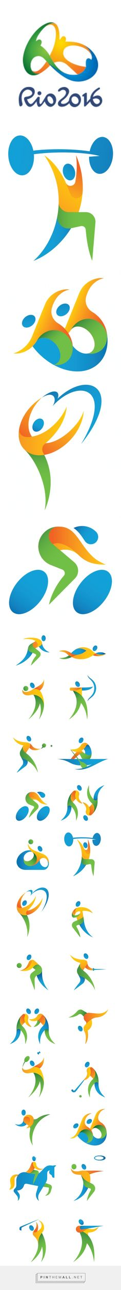 2016 Rio Olympic Pictograms on Behance-https://www.behance.net/gallery/24787821/2016-Rio-Olympic-Pictograms - created via https://pinthemall.net