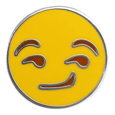 Smirk Emoji Pin