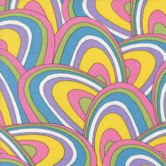 Wonky Rainbows in Rainbow by Robert Kaufman // Straight from the streets of Oh the Places You'll Go...I just ADORE this print! Pre-orders can be taken at any time but this fabric isn't available until late January 2013.