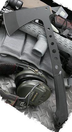 Medford Knives 607P08KB Tomahawk Axe Black