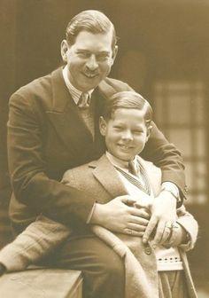 King Carol II. of Romania with his son Mihai, future King of Romania