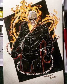 Ghost Rider commission.