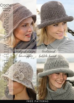 Crochet your brimmed hat and be ready to accessorize your boho chic look | 8 free hat patterns | DiaryofaCreativeFanatic