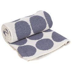 Eco Baby Dots Denim Baby Blanket.