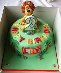 raa raa the noisy lion birthday cake - Google Search Barney Birthday, Lion Birthday, Safari Birthday Party, 2nd Birthday, Birthday Ideas, Birtday Cake, Lion Cakes, Victoria Sponge, Jungle Cake