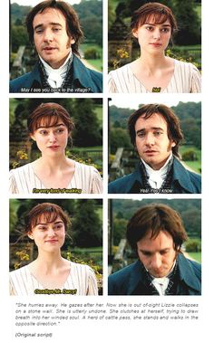 Pride and prejudice, 2005, original script