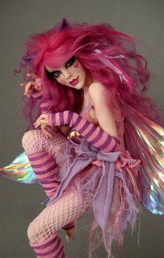 Cheshire Cat Faerie #2 - polymer clay sculpture by Nicole West