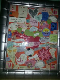 What to do with old greeting cards, birthday cards, cards from your loved ones?? Cut them up and create a meaningful collage...then hang as wall art...it will mean more to you than a picture you purchased at the store!