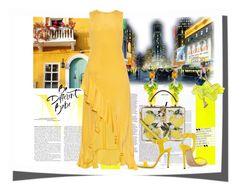 """""""yellow"""" by peeweevaaz ❤ liked on Polyvore featuring Dolce&Gabbana, Raey, Jimmy Choo, outfit, dress, polyvoreeditorial and polyvorefashion"""