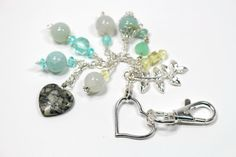 Purse Charms Silver chain and heart. by EClecticCreationbyUs