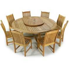 Classic forms and traditional craftsmanship make the Buckingham Veranda Dining set an extraordinarily durable combination that will endure through the test of time and the seasons. The Veranda Chairs, with their gently curved backrests and seats, offer lasting comfort and unrestricted movement around the Buckingham Table.  The Buckingham Veranda Dining set features: 1 Buckingham 6 ft. Round Table, 8 Veranda Side Dining Chairs.