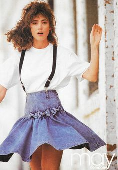 Seventeen Magazine, August 1989. 'Jordache basics' Denim. Jeans.