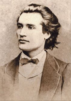 Mihai Eminescu: Romantic poet, novelist and journalist, often regarded as the most famous and influential Romanian poet. Romantic Writers, Romanian People, Pride And Glory, History Page, Free Mind, Important People, Romanticism, Rio De Janeiro, Prague