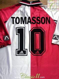 Relive Jon Dahl Tomasson s 1998 1999 season with this vintage Adidas  Feyenoord home football shirt f37465d6d
