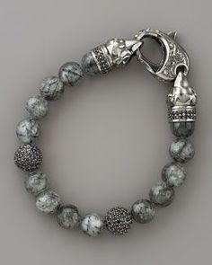 Greystone Spiritual Beaded Bracelet for Men Billionaire boys club