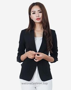 Aro Lora Women's Long Sleeve Solid Slim Casual Suit Jacket Blazer Coat US 2-4 Black  BUY NOW     $35.99    This unique design blazer is slim fitted and it can wear both in formal and casual occasion. It can wear to work or wear to party. Versatile casual and office blazer  ..