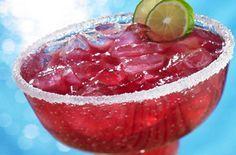 I can't wait to make this:Cranberry Pomegranate Margarita 2 ounces Ocean Spray® Cran•Pomegranate™ Cranberry Pomegranate Juice Drink 1 ounce tequila 1/2 ounce orange-flavored liqueur 1/2 ounce lime juice Orange zest 2 lime wedges Coarse salt