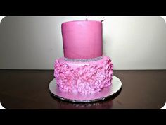 How to decorate a Ruffle Rose cake - YouTube