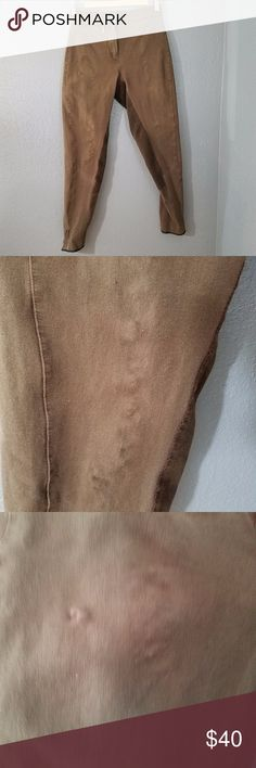 """Trainers Choice Breeches Riding Pants 28L Brown Trainers Choice Breeches in a size 28L.  Brown with Brown leather/suede.  They have some wear on the legs.  Please see the pictures.  No holes or stains, but some wash wear.  Some stretch.  Shell 94% cotton, 6% spandex. This is one pair of 4 I will be listing.  Different brands. Waist 28"""" Inseam 28"""" Rise 10"""" Pants Skinny"""