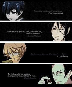 Discover and share Black Butler Ciel Quotes. Explore our collection of motivational and famous quotes by authors you know and love. Black Butler Anime, Black Butler Quotes, Black Butler Funny, Ciel And Alois, Alois Trancy, Black Butler Characters, Book Of Circus, Ciel Phantomhive, Black Butler Kuroshitsuji