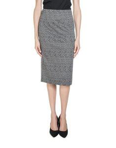 Knit Ponte Pencil Skirt