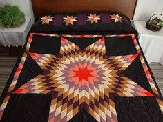 Lone Star Quilt   Lone Star Quilt -- wonderful smartly made Amish Quilts from Lancaster ...