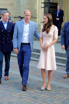 The Duke and Duchess of Cambridge meet the public as they visit Truro Cathedral on September 1, 2016 in Truro, United Kingdom.