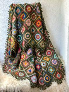 Wool Yarn, Little Things, Fiber Art, Needlepoint, Bohemian Rug, Blanket, Rugs, Crochet, Handmade