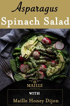 Healthy Eating Recipes, Diet Recipes, Vegetarian Recipes, Cooking Recipes, Spinach Salad Recipes, Asparagus Recipe, Apple Danish, Radish Salad, Main Dish Salads