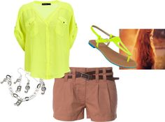 """""""Neon Top"""" by tatasaleh ❤ liked on Polyvore"""
