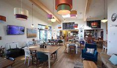 The Park Cafe at Mawgan Porth, Cornwall. Fantastic, eclectic setting.