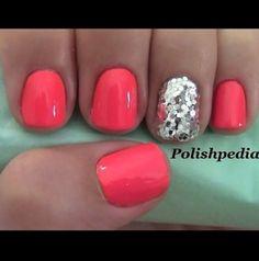 NAIL ART great summer color!!