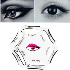 1Pc 6 in 1 Eyeliner Stencil Set Makeup Guide Quick Cat Eye Liner Tool Beauty