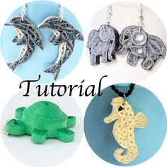 Tutorial for Paper Quilled Jewelry PDF Animals by HoneysHive, $8.99