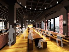 Harpoon Brewery Beer Hall & Visitors Center begins construction! -   Rendering of Beer Hall
