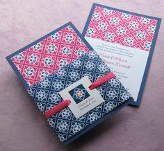 wedding invite, modern asian design