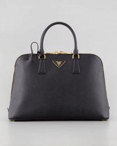 shopstyle.com: Prada Saffiano Medium Promenade Bag, Black