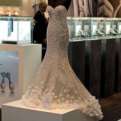 Gorgeous Wedding Dress With Loads Of Bling And Gems Mermaidweddingdress My Favorite