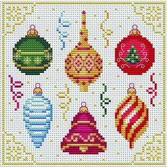 Christmas Decorations Tons of FREE CROSS-STITCH PATTERNS at this site: cross-stitchers-c... Plus, if you click on this link, cross-stitchers-c... , you'll automatically receive a gift when you subscribe. I use this site all the time; there are hundreds of all different types of patterns, and there are new patterns added everyday. It's really worth a look.
