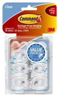 17006CLR-VP Command(TM) Clear Mini Hooks