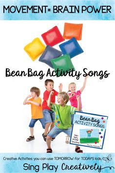 Bean Bag Activities are a great way to include movement into your Music, PE, Special Needs or regular Classroom. I put them in my SUB TUB!