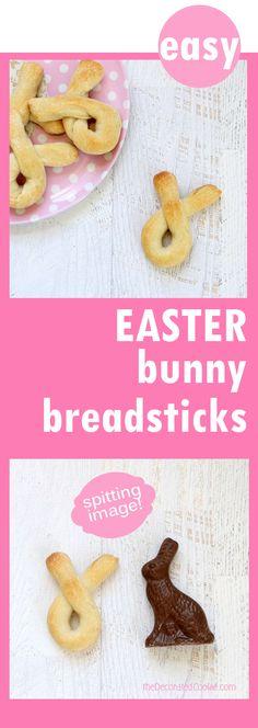 easy bunny breadsticks for Easter dinner