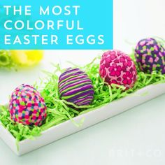 Make the most colorful Easter eggs ever with this sculpey DIY video tutorial.